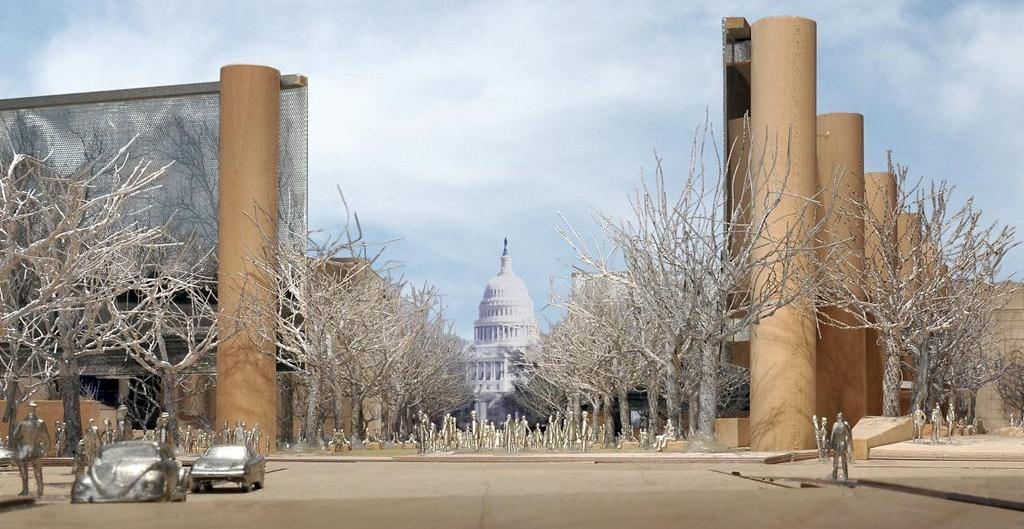 Eisenhower Memorial towers in winter LARGE cropped Speaking at Baylor University Tomorrow on the Eisenhower Memorial