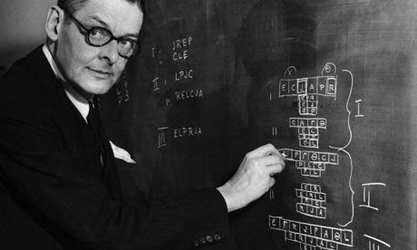 T S Eliot diagrams his play T.S. Eliot, Professorenpoesie