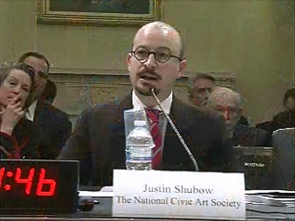 Justin Shubow House hearing Eisenhower Memorial bill 1024x769 Why Congress Should Support a New Eisenhower Memorial