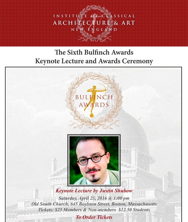 Bulfinch Awards Invitation